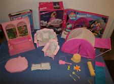 Barbie Doll Accessories Kits Box Bubble Bath Pink Sparkles Camp Outdoor Lot Vtg