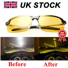 Night Driving Glasses HD Anti Glare Vision Polarized Tinted Unisex Yellow Lens