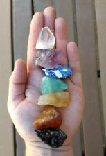 GemFarmer CS2: 7 Stones Chakra Set Seven Medium Rough Natural Raw Crystal Kit