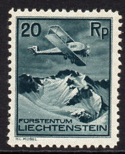 Liechtenstein 20Rp Air Mail Stamp c1930 Mounted Mint Hinged (7820)