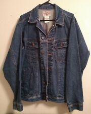 Vintage Wrangler Rugged Wear Mens Denim Trucker Jean Jacket Xlt