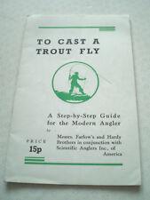 """""""a gettare un Trota Fly"""" pubblicato dal Hardy e FARLOW's utilizzati per pubblicizzare"""
