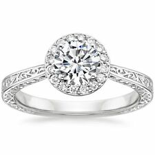 GIA Brilliant Earth Platinum Contessa Ring: 6.5, 0.70, Round, E, VS1, Very Good
