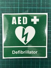 Sticker Defib Defibrillator AED ideal For Office Work Station School Group