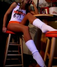 SLOUCH to KNEE SOCKS large HOOTERS UNIFORM Running School cheerleader sexy cozy