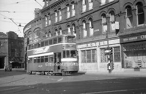 35mm negative Leeds Corporation Tram 521, Leeds 02-06-57