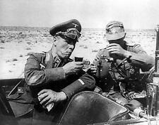 B&W WW2  German Photo Rommel Birthday Libya  WWII World War Two Afrika Korps