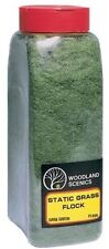 Woodland Scenics FL636 Static Grass Flock Dark Green 32 oz Shaker - NIB
