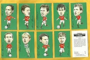 cigarette/trade cards - FAMOUS FOOTBALLERS - MANCHESTER UNITED - Full mint set
