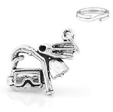 STERLING SILVER SCUBA DIVING GEAR CHARM W/ SPLIT RING