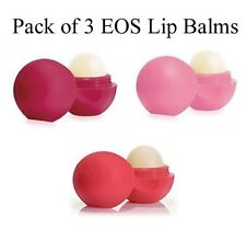 EOS Lip Balm Pack of 3 ( Strawberry,Pomegranate , Sumer Fruit)