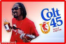 Colt 45 Beer Cool  Dog  Refrigerator / Tool Box Magnet Ad
