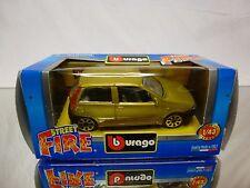 BBURAGO STREET FIRE FIAT PANDA - METALLIC YELLOW 1:43 - NEAR MINT IN BOX