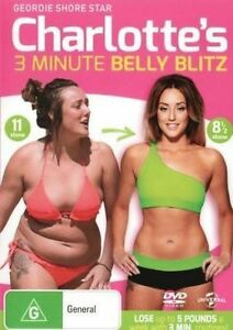 CHARLOTTE'S 3 Minute BELLY BLITZ DVD HEALTH WEIGHT LOSS FITNESS BRAND NEW R4