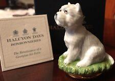Halcyon Days West Highland Terrier Westie Dog Enamel Bonbonniere Box
