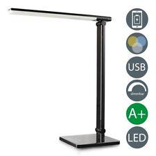 LED Tisch-Leuchte Schreibtisch-Lampe Büro dimmbar Touch Leselampe Nachttisch USB