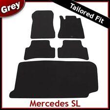 Mercedes SL 1972 1973 1974 1975... 1989 a Medida Alfombra Alfombrillas De Arranque Coche Y Gris