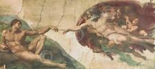 The Creation of Adam Michelangelo Religious Renaissance Print Poster 11x14