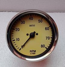 Classic Magnolia Smiths Replica 100 mm mechanical tachometer clock wise