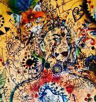 LICHTSPRACHE SELFIE Turner 2015 Malerei 60x80cm Fine Art PRINT !
