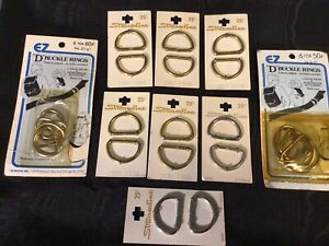 9 Sets Of Vintage But New D Buckle Rings By Streamline & EZ
