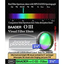 """Baader Planetarium 1.25"""" O-III Nebula Filter  #  FOIII-1  #  2458395"""