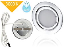 LED Spot Feuchtraum Einbaustrahler IP44 warmweiß Bad Einbau Leuchte 12V MINI-AMP