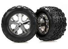 Traxxas 3668 Rear All-Star Chrome Wheels w/Talon Tires (2) 1/10 Stampede VXL XL5