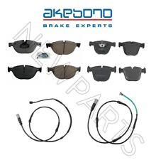 For BMW 550i GT 750i F01 F02 F07 Front & Rear Brake Pads & Sensors KIT Akebono