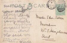 Willesborough: 1910 h41 numerale Annulla nella foto cartolina
