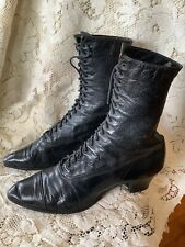 Antique Victorian 1880's Shoes - Larger Size! Wearable, good condition