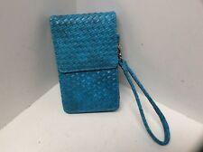 Ladies wristlet handbag turquoise CAPELLI NEW YORK antique shading H25