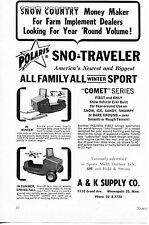 New listing 1963 Print Ad of A&K Supply Co Polaris Sno-Traveler Comet Snowmobile