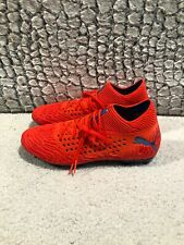 Puma Future 19.1 Netfit Fg/Ag Soccer Cleats Orange/Red/Blue 105531-01 Men Sz 9.5