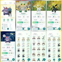 Pokemon Account Go Lv 30 | 3 Shiny(Rare) | 97 Legendary(Rare) | 0 IV100(Rare)