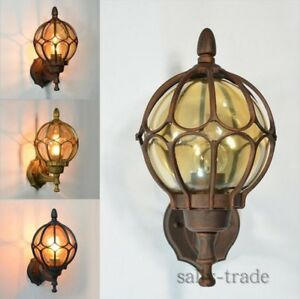 Vintage Outdoor Balcony Glass Ball Wall Light Waterproof Aluminum Wall lamp New