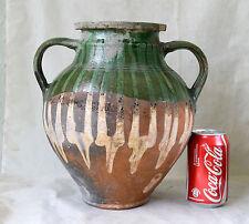 ANTIQUE 19`c OTTOMAN Era REDWARE Pottery Ceramic Large Jar Jug TRANSPORT AMPHORA