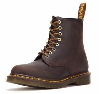 Dr Martens 8-Eye 1460 Airwair Dark Tan Crazy Horse Brown Leather Boots UK3-11