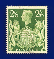 1942 SG476b 2s6d Yellow-Green Q30 VAR: Guideline @ SE Corner, Light CDS G/U ddnp