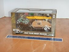 GREENLIGHT HITCH & TOW 1947 TEAR DROP TRAILER 1/24 SCALE, DIECAST, NOS