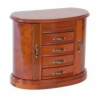 Mele Designs Leigh Wooden Jewelry Box in Burlwood Oak Finish