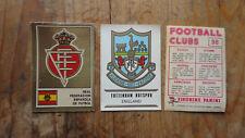 RARE 1975 PANINI FOOTBALL CLUBS 1 VIGNETTE A CHOISIR PARMI  208 VOIR LISTE !
