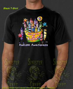 Autism Awareness Crayons It's OK To Be Different New T-Shirt S-6XL