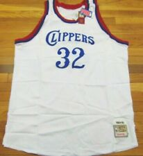 MITCHELL & NESS NBA THROWBACK LOS ANGELES CLIPPERS BILL WALTON WHITE JERSEY 60