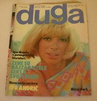 Mireille Darc Sylvie Vartan DUGA Yugoslavian July 1976 VERY RARE