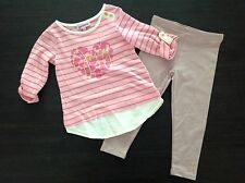 Juicy Couture 2 Pc Shirt And Legging Set 2T NWT