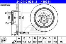 2x Bremsscheibe für Bremsanlage Hinterachse ATE 24.0110-0311.1