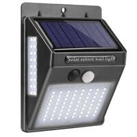 1X(100 Led LumièRe Solaire Murale ExtéRieure Solaire Lampe de Capteur de Mou D1W