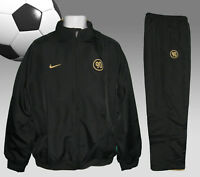 New NIKE Men's T90 Total 90 FOOTBALL Tracksuit Black and Gold Small