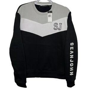 Sean John Contrast Chevron Sweatshirt Men's Sizes M L XL 2XL Pullover Crew Neck